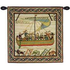 Duke William's Ship With Border French Tapestry