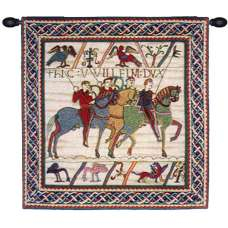 Duke William Departs with Border French Tapestry