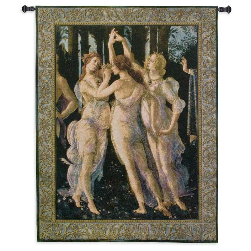 Primavera The Three Graces Tapestry Wall Hanging