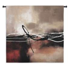 Symphony in Red and Khaki II Tapestry Wall Hanging