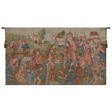 Marche Au Vin French Tapestry