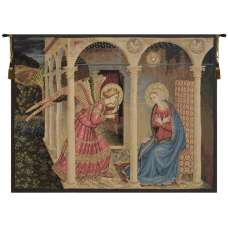 Annuniciation Italian Tapestry Wall Hanging