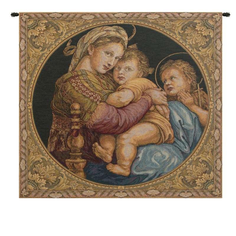 Madonna Della Seggiola Italian Tapestry Wall Hanging