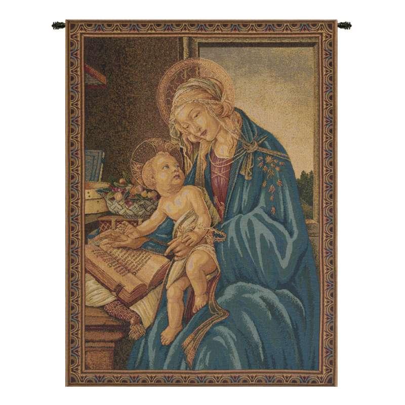 Madonna Del Libro Italian Tapestry Wall Hanging