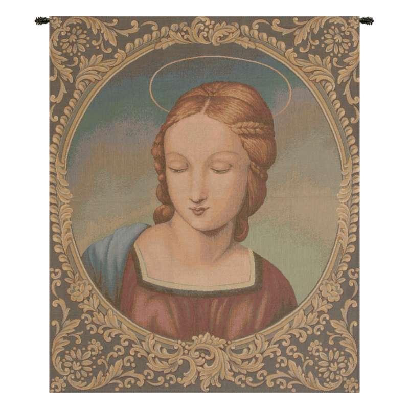 Madonna Del Cardellino Italian Tapestry Wall Hanging
