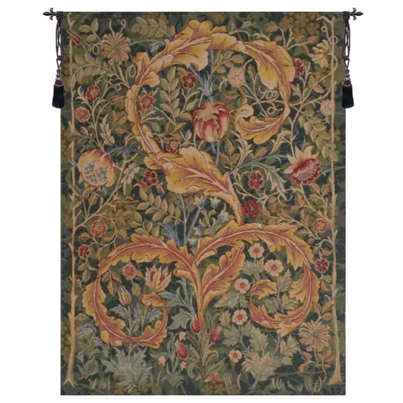 Acanthe Green Small French Tapestry