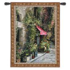 St. Moritz Cafe Tapestry Wall Hanging