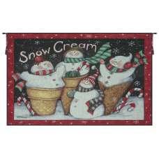 Snow Cream Christmas Fine Art Tapestry