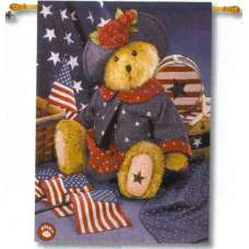 Americana Bear Fine Art Tapestry