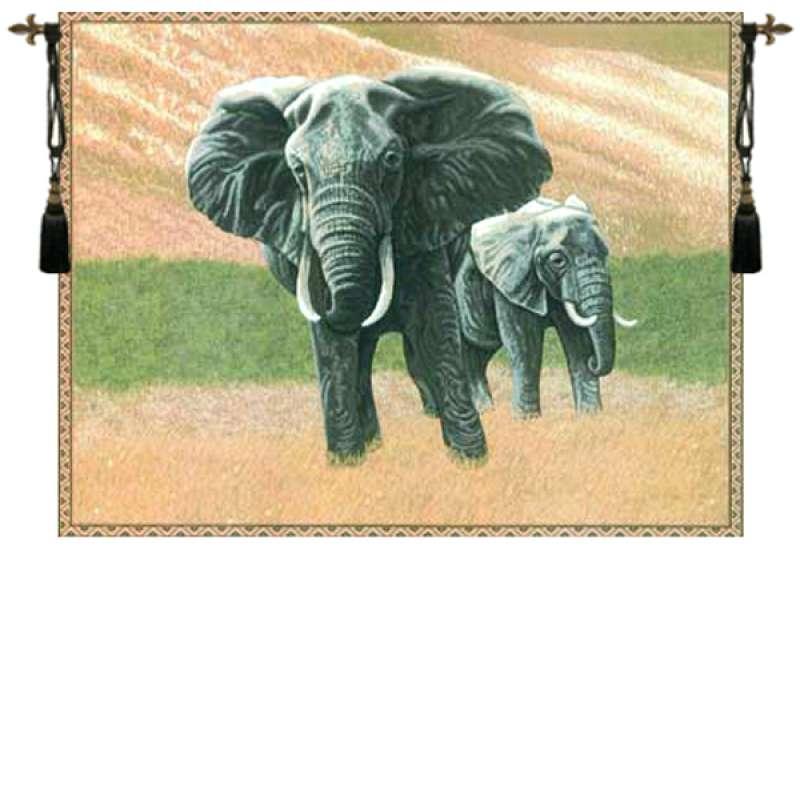 Elephants European Tapestry