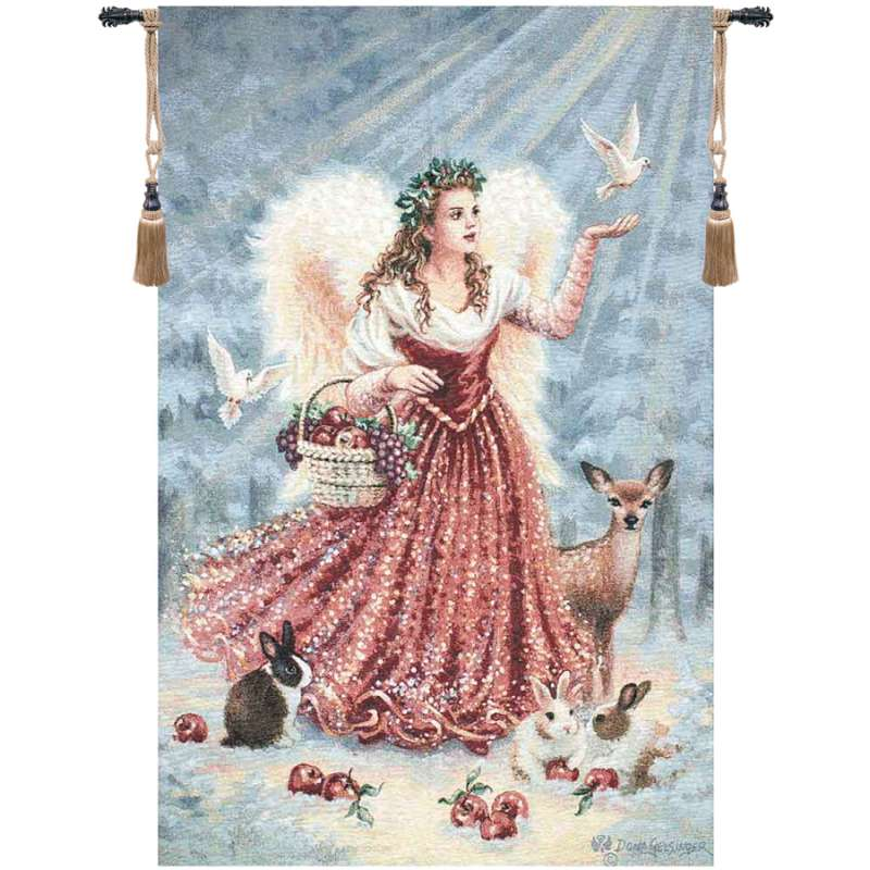 Christmas Angel Fine Art Tapestry