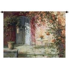 Patio Entrance Fine Art Tapestry