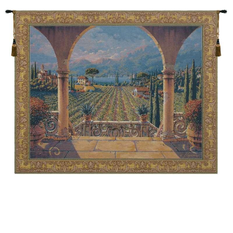 Lakeside Vineyard Belgian Tapestry Wall Hanging