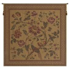 Birds of Paradise With Border European Tapestry