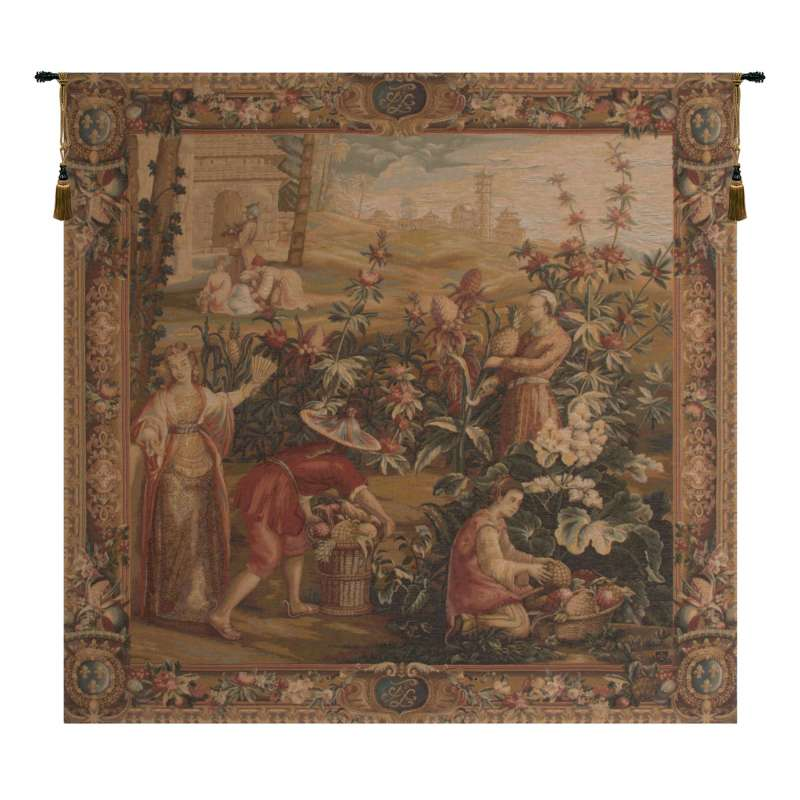 La Recolte Des Ananas French Tapestry