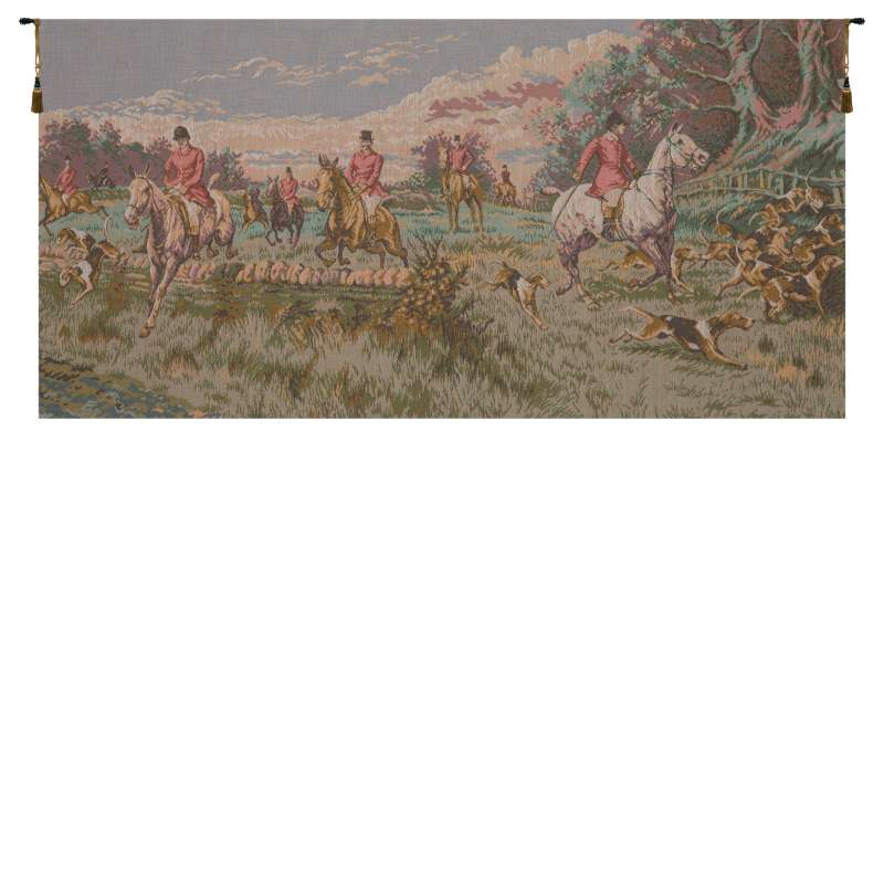 La Chasse a Courre without Border French Tapestry Wall Hanging