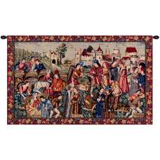 Marche Au Vin I French Tapestry
