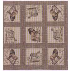 Lion and Cheetah French Tapestry Throw