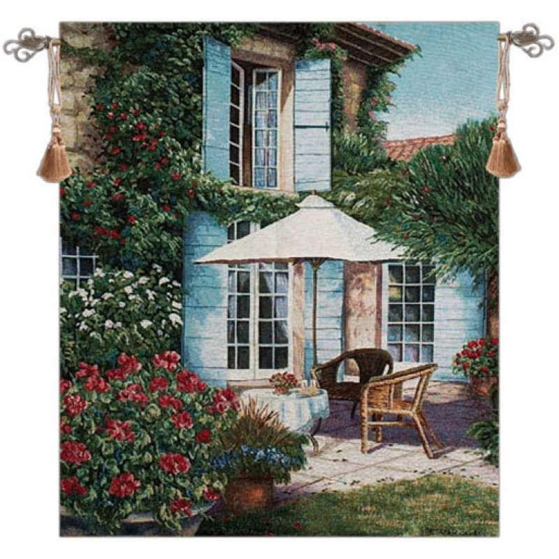 Umbrella in the Sun Fine Art Tapestry
