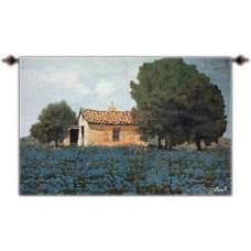 The Hill of Flowers Fine Art Tapestry