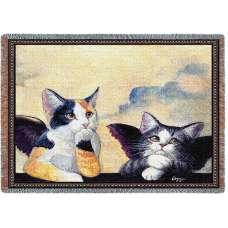Cherub Cats (Cats) Tapestry Throw