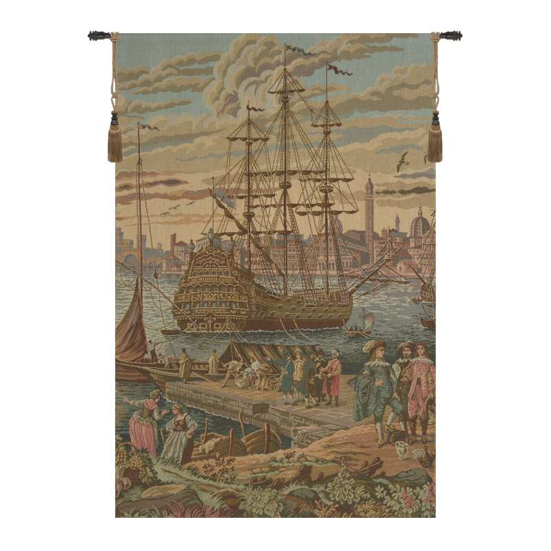 The Galleon Italian Tapestry Wall Hanging