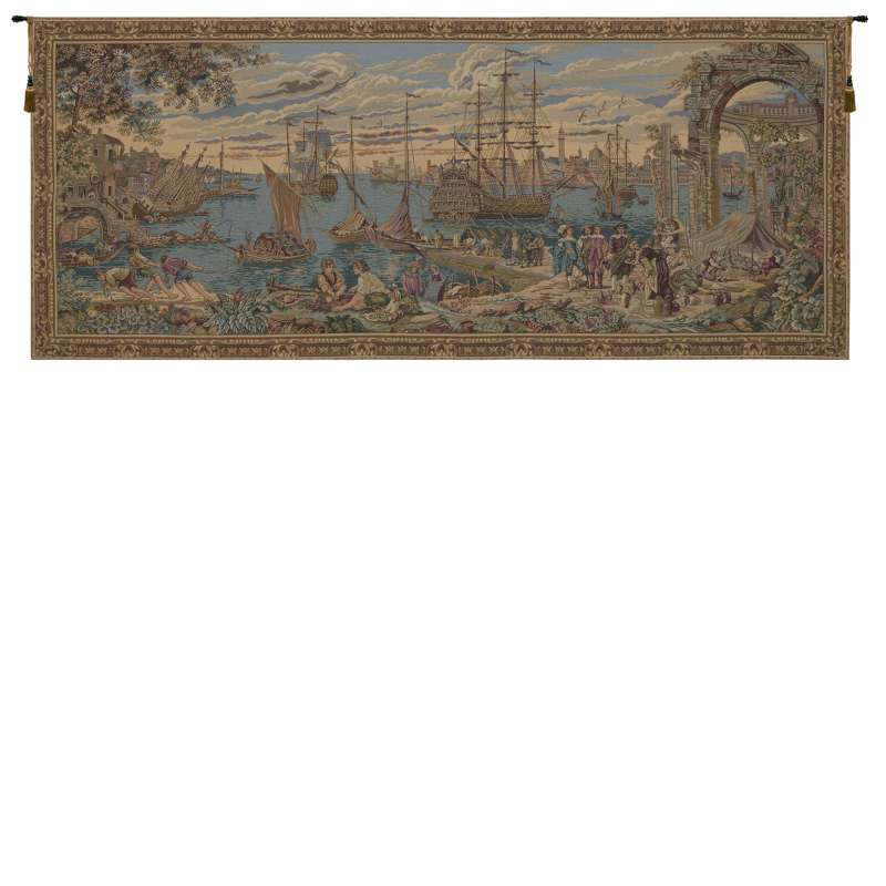 The Harbor Italian Tapestry Wall Hanging