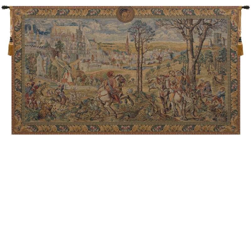 Old Brussels Flanders Belgian Tapestry Wall Hanging