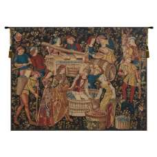Grapes Harvest Vendanges Flanders Tapestry Wall Hanging