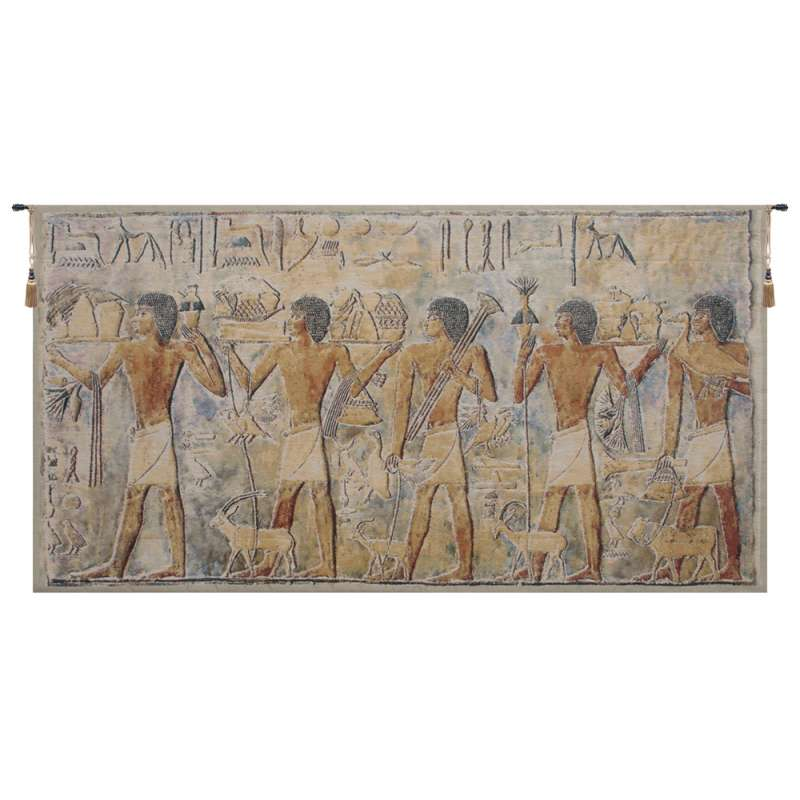 Saqqarah Beige Part 2 Belgian Tapestry Wall Hanging
