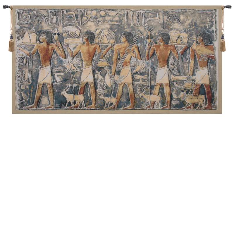 Saqqarah Blue Part 2 Belgian Tapestry Wall Hanging