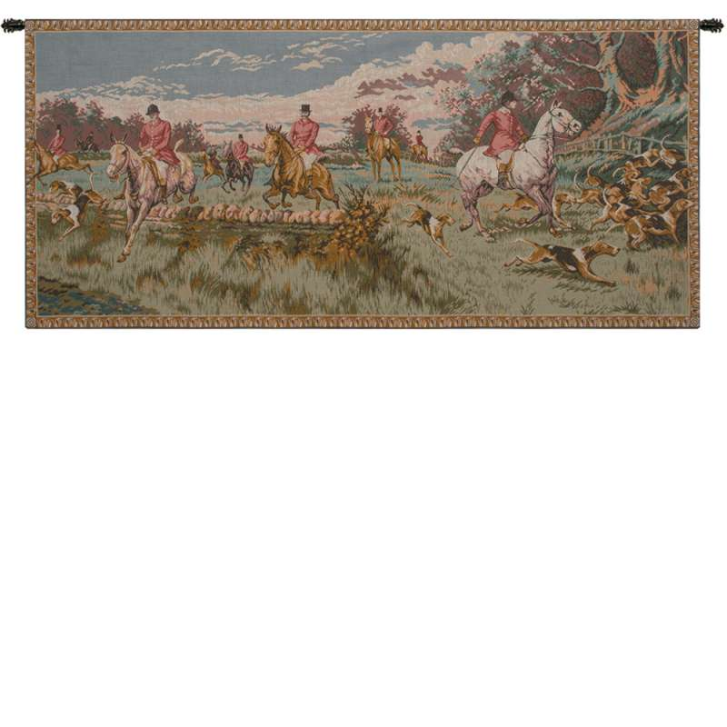 English Hunting Scene French Tapestry