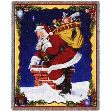 Down I Go Holidays Tapestry Throw