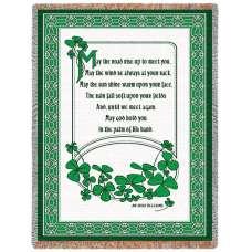 Irish Blessing II (Irish) Tapestry Throw