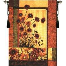 Contemporary Poppy Tapestry Wall Art