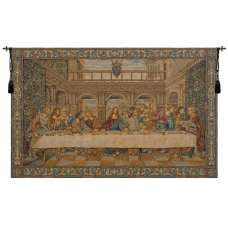 The Last Supper IV Italian Tapestry Wall Hanging
