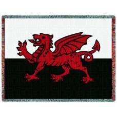 Welsh Dragon (Flags) Tapestry Throw