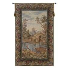 Fishing at the Lake Vertical Italian Tapestry