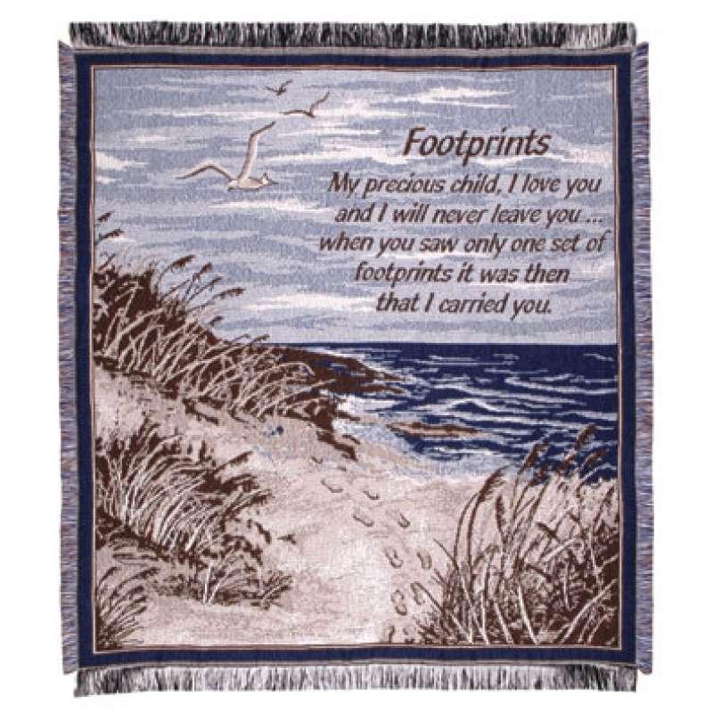 Footprints II (Words of Wisdom) Tapestry Throw