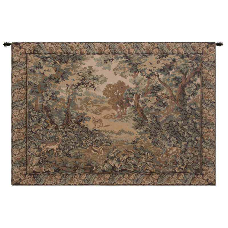 Verdure And Reindeer European Tapestry