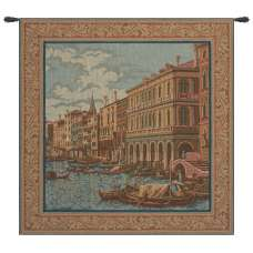 Shore on the Large Canal Italian Tapestry Wall Hanging