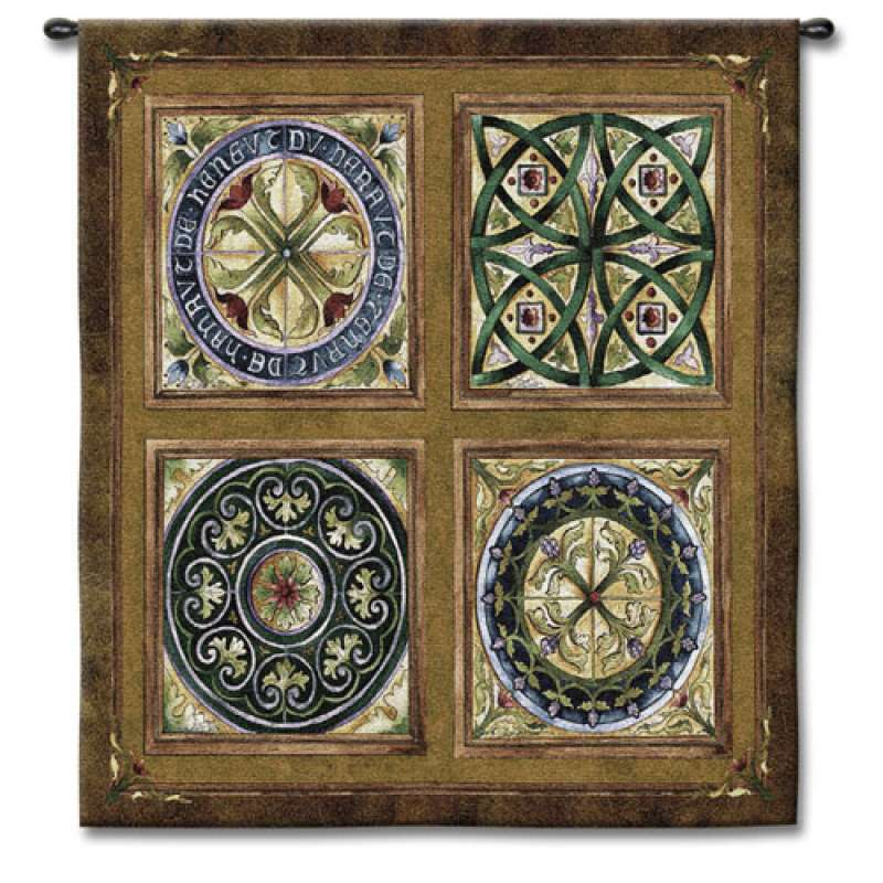 Rosette Tapestry Wall Hanging