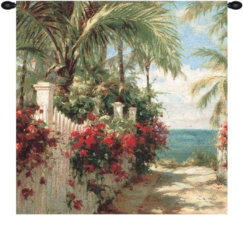 Seaside Walk Fine Art Tapestry