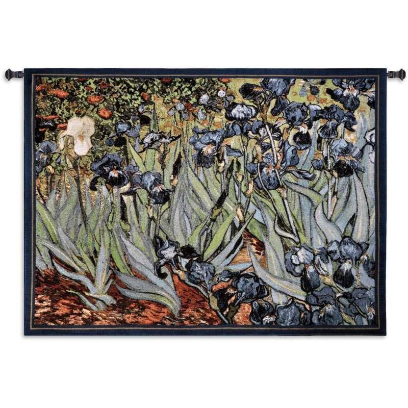 Van Gogh Irises Tapestry Afghan Throw