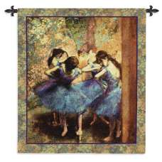 Dancers in Blue Tapestry Wall Hanging