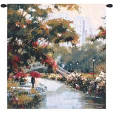View from the Park Fine Art Tapestry