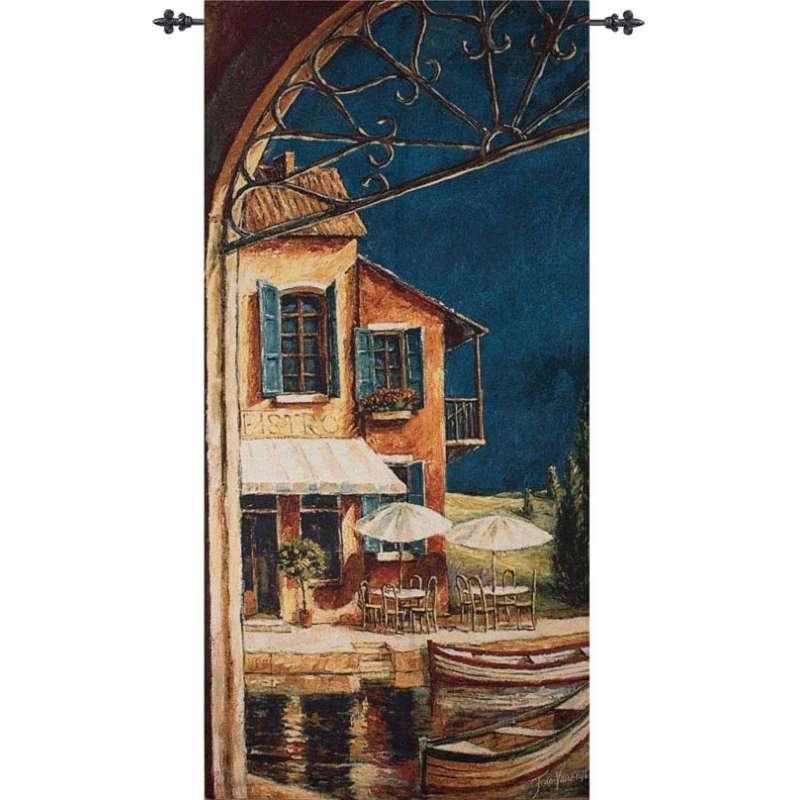 Mediterranean Bistro Fine Art Tapestry