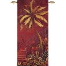 Palm Courtyard II Fine Art Tapestry