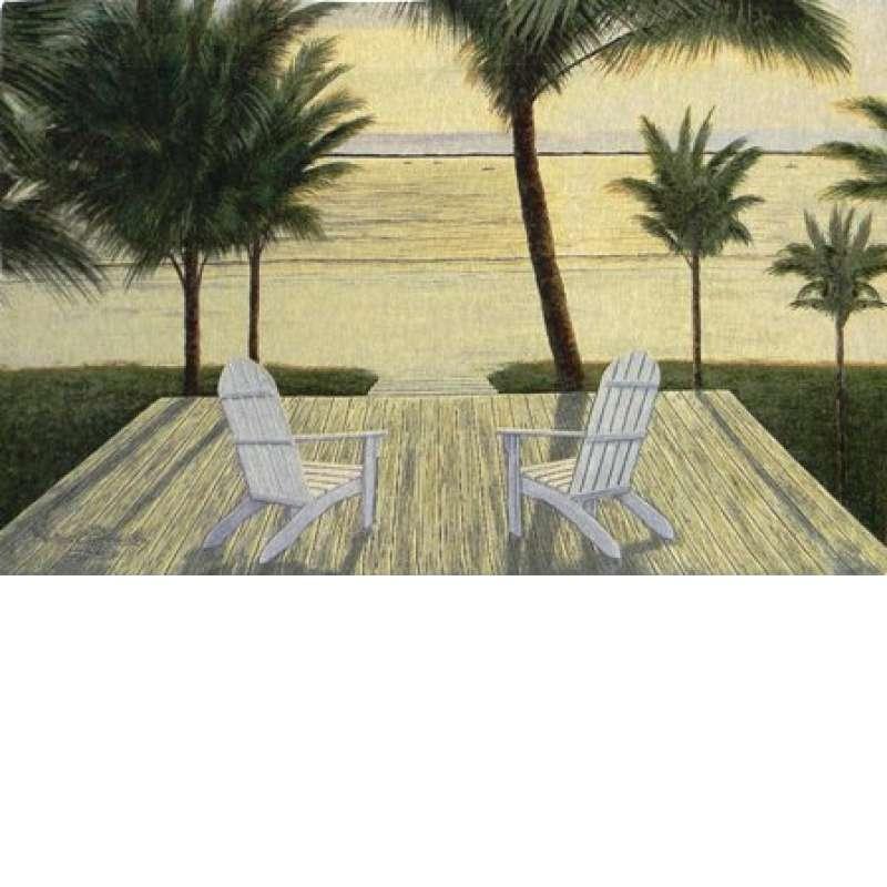 Palm Beach Retreat Fine Art Tapestry