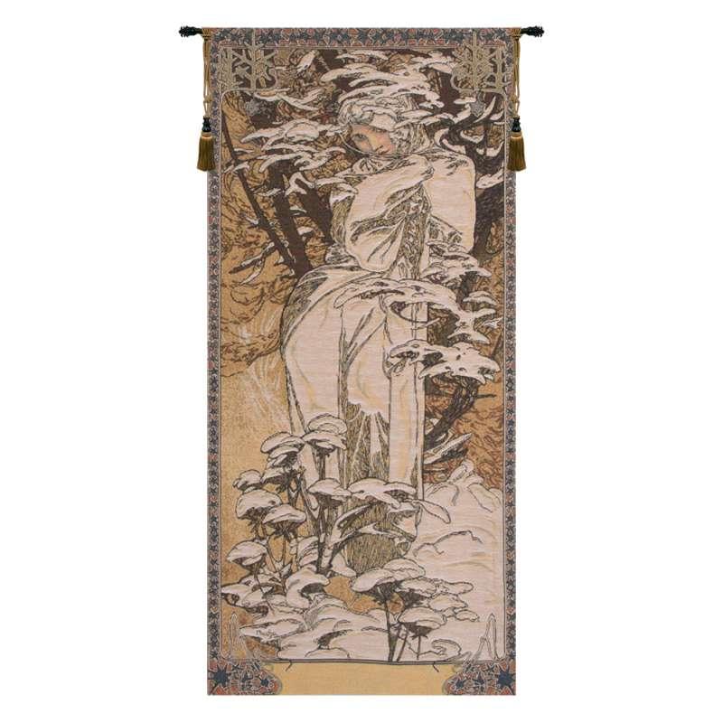 Mucha Winter European Tapestry Wall Hanging